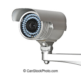 cctv camera - fine image of classic cctv infrared security...