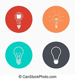 Vector modern idea colorful icons set