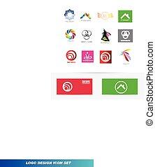 Logo design icon element set