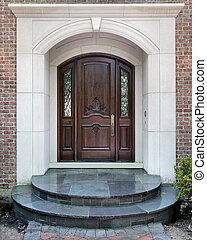 Entry and doorway to luxury home - Entry doorway to luxury...