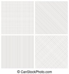 Set of monochrome hatch seamless patterns
