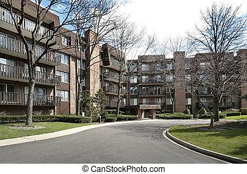 Front view of condominium complex - Front of condominium...