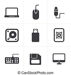 Computer Icons Set, Vector Design