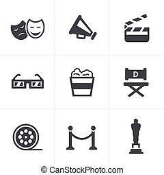 Movie Icons Vector design
