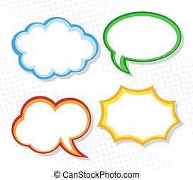 speech bubbles - vector illustration of a collection of...
