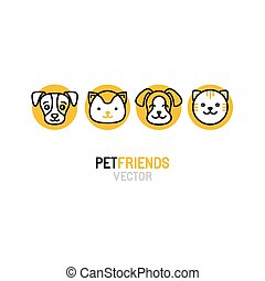 Vector logo design template for pet shops, veterinary...