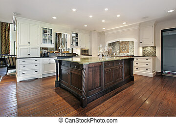 Kitchen with large island