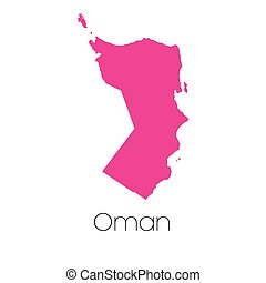 Map of the country of Oman - A Map of the country of Oman