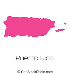 Map of the country of Puerto Rico - A Map of the country of...