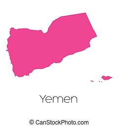 Map of the country of Yemen - A Map of the country of Yemen