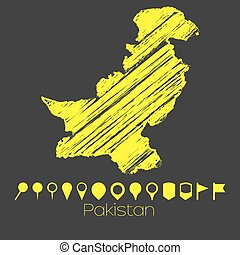 Map of the country of Pakistan - A Map of the country of...