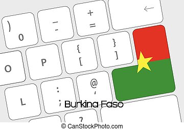 Keyboard with the Enter button being the Flag of Burkina...