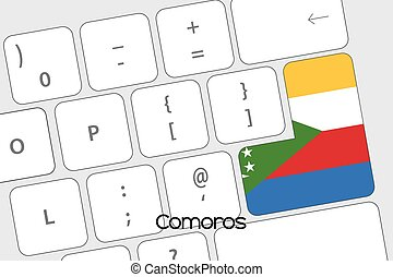 Keyboard with the Enter button being the Flag of Comoros -...