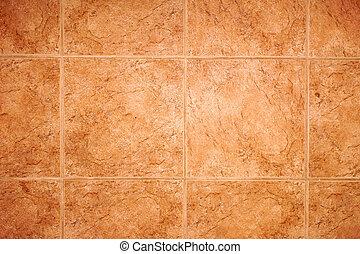 detail of tile floor - detail of terra cotta tile floor, can...