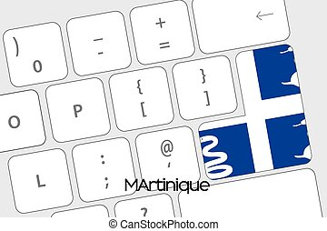 Keyboard with the Enter button being the Flag of Martinique...