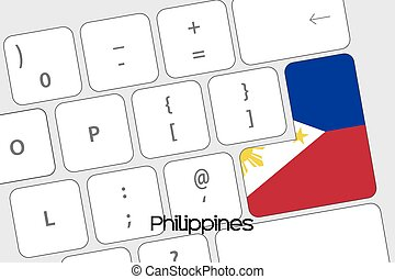 Keyboard with the Enter button being the Flag of Philippines...