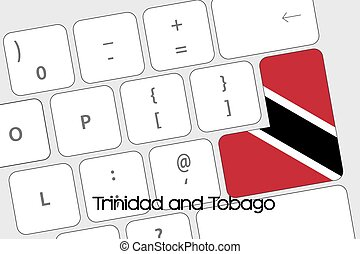 Keyboard with the Enter button being the Flag of Trinidad...