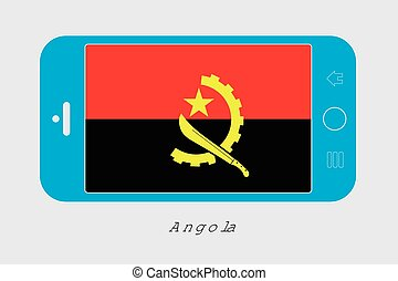 Mobile Phone with the Flag of Angola - Mobile Phone...