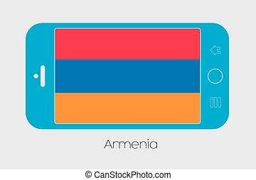 Mobile Phone with the Flag of Armenia - Mobile Phone...