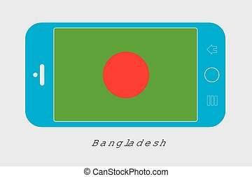 Mobile Phone with the Flag of Bangladesh - Mobile Phone...