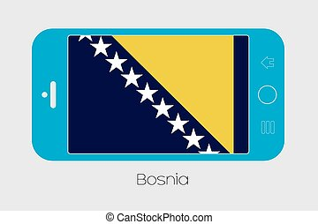 Mobile Phone with the Flag of Bosnia - Mobile Phone...