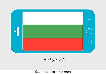 Mobile Phone with the Flag of Bulgaria