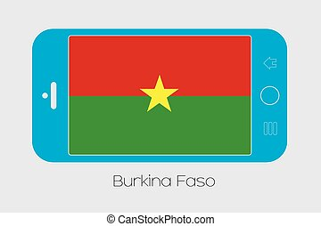 Mobile Phone with the Flag of Burkina Faso - Mobile Phone...