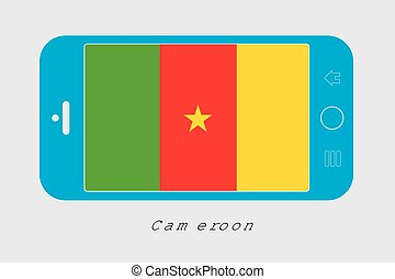 Mobile Phone with the Flag of Cameroon - Mobile Phone...