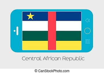 Mobile Phone with the Flag of Central African Republic -...
