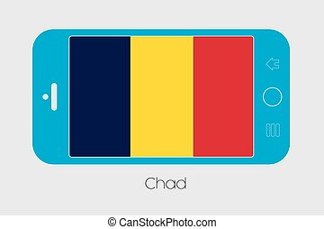 Mobile Phone with the Flag of Chad - Mobile Phone...