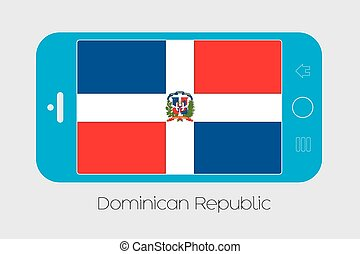 Mobile Phone with the Flag of Dominican Republic - Mobile...