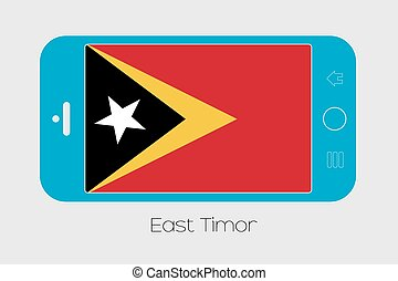 Mobile Phone with the Flag of East Timor - Mobile Phone...