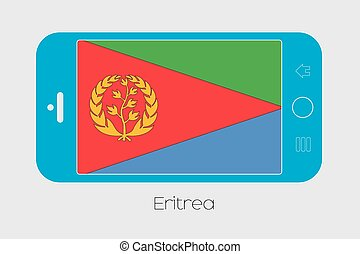 Mobile Phone with the Flag of Eritrea - Mobile Phone...