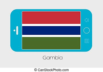 Mobile Phone with the Flag of Gambia - Mobile Phone...