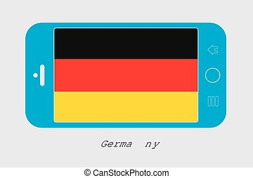 Mobile Phone with the Flag of Germany