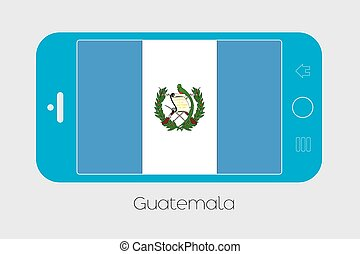 Mobile Phone with the Flag of Guatemala - Mobile Phone...
