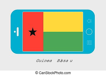Mobile Phone with the Flag of Guinea Bissau - Mobile Phone...