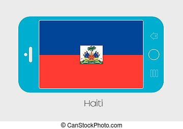 Mobile Phone with the Flag of Haiti - Mobile Phone...
