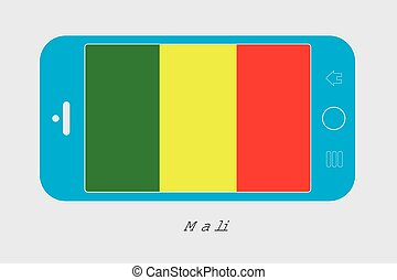Mobile Phone with the Flag of Mali - Mobile Phone...