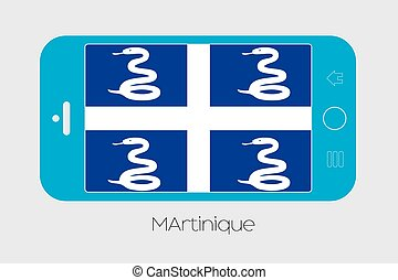 Mobile Phone with the Flag of Martinique - Mobile Phone...