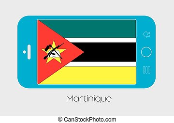 Mobile Phone with the Flag of Mozambique - Mobile Phone...
