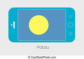 Mobile Phone with the Flag of Palau - Mobile Phone...