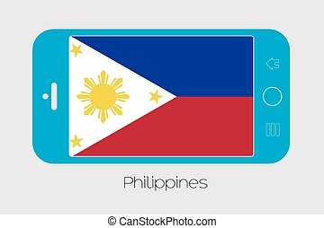 Mobile Phone with the Flag of Philippines - Mobile Phone...