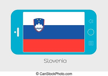 Mobile Phone with the Flag of Slovenia - Mobile Phone...