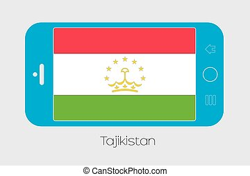 Mobile Phone with the Flag of Tajikistan - Mobile Phone...
