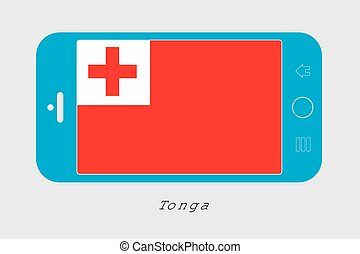 Mobile Phone with the Flag of Tonga - Mobile Phone...