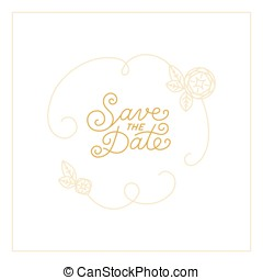 Vector save the date card design