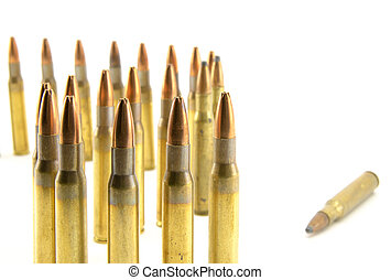 ammunition for rifle - composition with hollow-point...