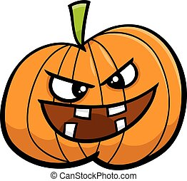 jack o lantern cartoon illustration - Cartoon Illustration...
