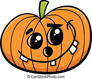 jack halloween pumpkin cartoon - Cartoon Illustration of...